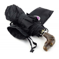 GdJ Parasol UNISEX Parapluies-dog noir, Guy de Jean, składany