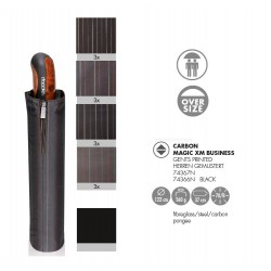 Doppler Parasol męski, Magic XL 74566 - CZARNY W BRĄZOWE PASY, składany
