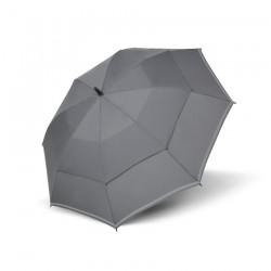Doppler Parasol męski, Golf  Reflex szary, długi