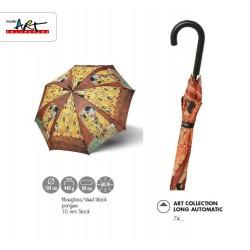 "Doppler Parasol damski, Long AC długi Klimt ""Der Kuss"", długi"