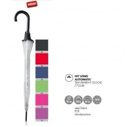 Doppler Parasol UNISEX, Hit Long AC PVC Folia transparentny kolory 77254B - różowy, długi