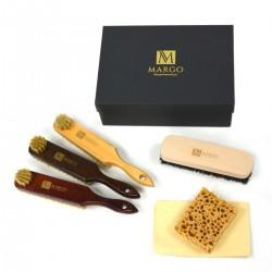 Zestaw szczotek z mazakami + ściereczki, w prezentowym pudełku