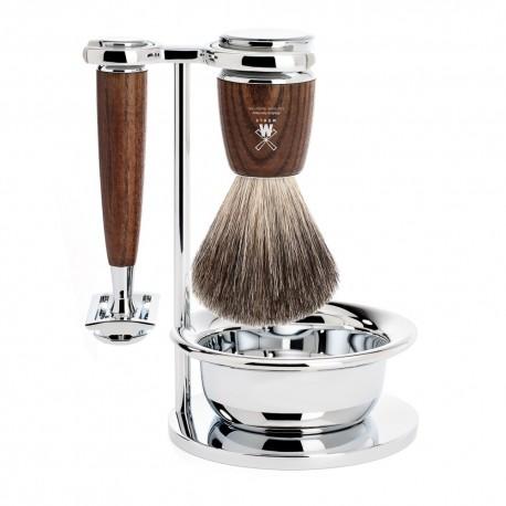 Mühle Rytmo Traditional Zestaw do golenia Pure Badger Pędzel do golenia, Maszynka na żyletki  & Bowl