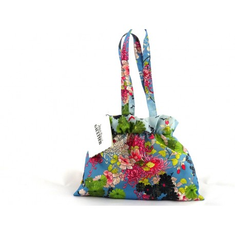 JPG, Parasol  damski MIICRO-MINI Kimono BLUE, Jean Paul Gaultier, składany