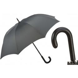 PASOTTI Parasol Męski MINI CHEVRON, długi, luksusowy, skórzana rączka
