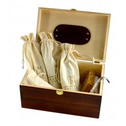 Marco Ricci Zestaw Nr 1 szczotki do pielęgncji obuwia w drewnianym pudełku