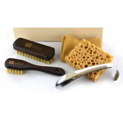 Margo MGS2-1, firmowy 5-el. zestaw do pielęgnacji obuwia w ekologicznym pudełku