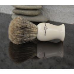 EJ, IVPSBbb Pędzel do golenia Edwin Jagger Plaza best badger, kość słoniowa