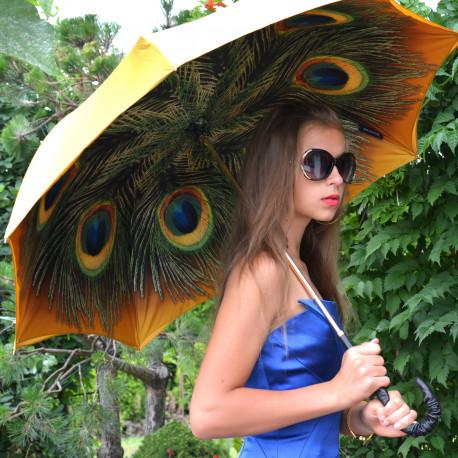 IM, Parasolka damska Złoty Paw, motyw zwierzęcy, IL MARCHESATO, długa