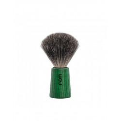 Mühle Nom Theo Pędzel do golenia Pure Badger, jesion barwiony na zielono