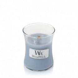 WoodWick®, Mała Świeca - Soft Chambray, Aromat miękkiej tkaniny, jaśmin i róża, 40 godzin
