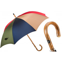 Pasotti Parasol męski Bespoke  142 Oxf-2-4-10-14 C - Multicolor, drewno kasztanowca