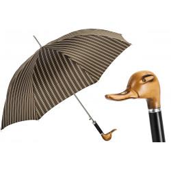 Pasotti Parasol męski 478 51880-3 N58 - drewniany uchwyt Duck ręcznie rzeźbiony