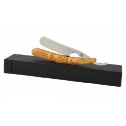 Elegancka brzytwa Koraat-Knives 6/8 drewno oliwne, wklęsłość near wedge
