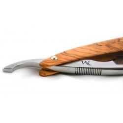 Elegancka brzytwa Koraat-Knives 7/8 drewno oliwne, wklęsłość near wedge