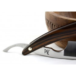 Elegancka brzytwa Koraat-Knives 7/8 heban makassar, wklęsłość near wedge