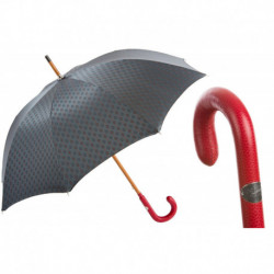 Pasotti Parasol męski Bespoke 142 51404-5 P - Gentlemen Umbrella with Red Leather Handle