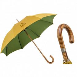 Pasotti Parasol męski Bespoke 142 Double-16 H - Bicolor Hickory Umbrella