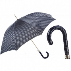 Pasotti Parasol męski Bespoke 478 Atene-7 N48 - Umbrella with Twisted Leather Handle