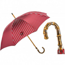 Pasotti Parasol męski Bespoke 142 51880-2 B - Classic Striped Umbrella, Bamboo Handle