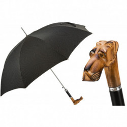 Pasotti Parasol męski Bespoke 478 Pto CN5 N52 - Hand Carved Great Dane Umbrella