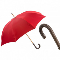 Pasotti Parasol męski Bespoke 143 Double-19 N37 - Gent Umbrella with Braided Leather Handle