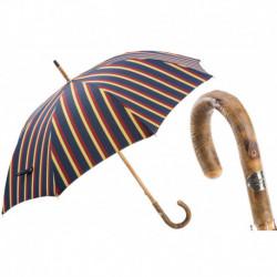 Pasotti Parasol męski Bespoke 142 Alfred-1 F - Classic One-Piece Ash Umbrella