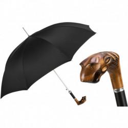 Pasotti Parasol męski Bespoke 478 Oxf-18 N50 - Hand Carved Tiger Umbrella