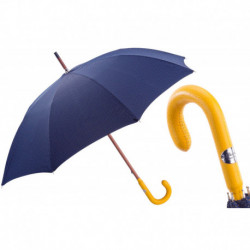 Pasotti Parasol męski Bespoke 142 Pto CN4 P - Bespoke Umbrella, Yellow Leather Handle