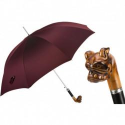 Pasotti Parasol męski Bespoke 478 Oxf-15 N51 - Hand Carved Bulldog Umbrella