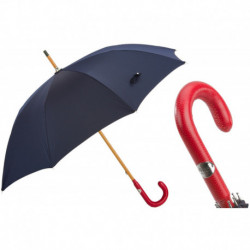 Pasotti Parasol męski Bespoke 142 Pto CN3 P - Bespoke Umbrella, Red Leather Handle
