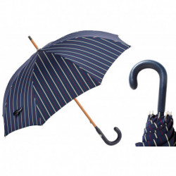 Pasotti Parasol męski Bespoke 142 Bruce-1 P - Bespoke Umbrella, Navy Leather Handle