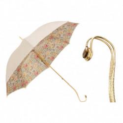 Pasotti Parasol damski  Flowered  189 57982-11 G26 - Romantic Umbrella, Podwójny materiał