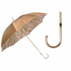 Pasotti Parasol damski  Animal 189 52417-16 P5 - Leopard Print Ivory Umbrella, Podwójny materiał