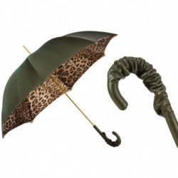 Pasotti Parasol damski  Animal 189 90115-5 A35 - Leopard Print Olive Green Umbrella, Podwójny materiał