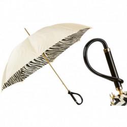 Pasotti Parasol damski  Animal 189 21028-55 A - Ivory Umbrella with Zebrine Interior, Podwójny materiał
