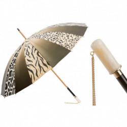 Pasotti Parasol damski  Animal 355 21284-6 I10 - 16 Panels Animalier Umbrella