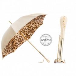 Pasotti Parasol damski  Animal 189 52417-11 Z5 - Creamy-White Leopard Print Umbrella, Podwójny materiał