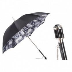 Pasotti Parasol damski  Animal 189N TigerPatch-6 S11 - Black and White Animalier Umbrella, Podwójny materiał