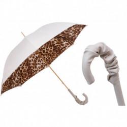 Pasotti Parasol damski  Animal 189 52417-11 A35 - Leopard Print Umbrella, Podwójny materiał