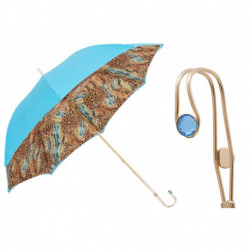 Pasotti Parasol damski  Animal 189 56084-1 P18 - Bright Animalier Print Umbrella, Podwójny materiał