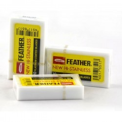 Żyletki Feather 10szt (żółte)