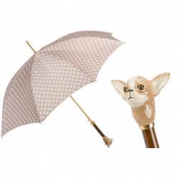 Pasotti Parasol damski  LUX 20 55874-153 K70pa - Chihuahua Umbrella with Dots