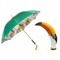 Pasotti Parasol damski  LUX 189 5X034-2 K3 - Toucan Umbrella, Podwójny materiał