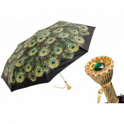 Pasotti Parasol damski  składany 257 Hawaii P11 - Peacock Folding Umbrella