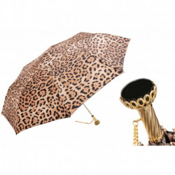 Pasotti Parasol damski  składany 257 5Z568-4 A29 - Animalier Folding Umbrella