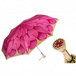 Pasotti Parasol damski  składany 257 21065-30 P11 - Pink Dahlia Folding Umbrella
