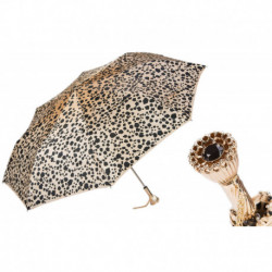 Pasotti Parasol damski  składany 257 1411-29 P11 - Leopard Print Folding Umbrella