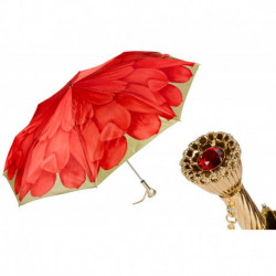 Pasotti Parasol damski  składany 257 21065-21 P11 - Red Dahlia Folding Umbrella