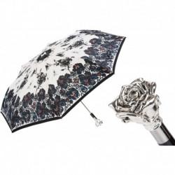 Pasotti Parasol damski  składany 257 9666-1 W43 - Silver Rose Folding Umbrella